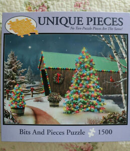 "Christmas Puzzle- ""Country Lights"" by Alan Giana (1500 unique pieces)"