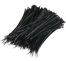"""New Black 1000Pcs Pack 8"""" inch Black Network Cable Cord Wire Tie Strap 50 Lbs Us"""