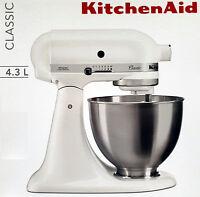 Kitchen Aid Küchenmaschine,Teig-Knetmaschine Classic 5K45SSEWH 4,3L, 275 W, Weiß