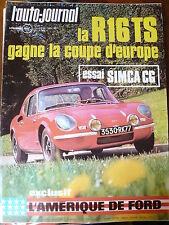 L'AUTO JOURNAL 1971 10 ESSAI CG 1200 S 504i VOLKSWAGEN K70 R16 TS RALLY DU MAROC