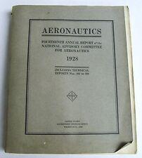 1928 Aeronautics Original 14th Annual Report Natl Advisory Committee Aeronautics