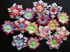 15 x Mulberry Paper FLOWERS MPFF30 - 30-35mm Scrapbook Craft Card embellishments