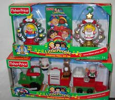 #207 NRFB Fisher Price Little People Christmas Video Giftset & Musical Train