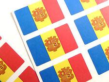 Mini Sticker Pack, Self-Adhesive Andorra Flag Labels, FR53