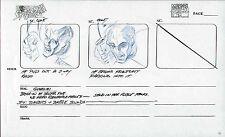 SPIDERMAN ANIMATED SERIES ARTWORK ORIGINAL ART PAGE MARVEL FILMS STORYBOARD