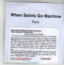 (CG679) When Saints Go Machine, Parix - 2011 DJ CD