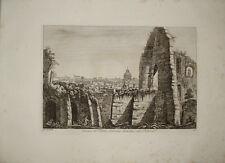 stampa antica Teatro Neroniano Palatino Luigi Rossini Roma old print kupferstich