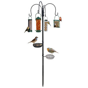 Feeding Station Wild Garden Bird Feeder Nuts Water Bath Stabiliser Hanging Feed