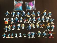 LOT OF 72 VINTAGE PVC & McDONALD's SMURF FIGURES + 2 TOY HOUSES - FREE SHIPPING
