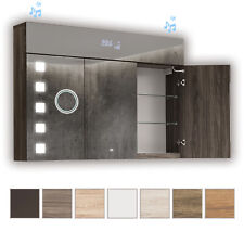 Spiegelschrank LED Badspiegel Badschrank Badezimmerschrank 100x72 3türig Spiegel