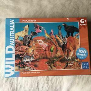 WILD AUSTRALIA THE OUTBACK Jigsaw Puzzle 100 Pieces Art Gary Fleming KANGAROO