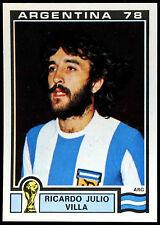 Argentina 78 Ricardo Julio Villa #104 World Cup Story Panini Sticker (C350)