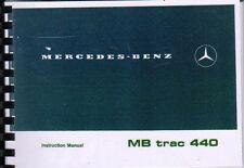 """MERCEDES-BENZ """"MB TRAC 440"""" operatore TRATTORE manuale di istruzioni LIBRO"""