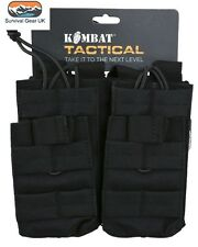 Tactical Double Duo Mag Pouch Black MOLLE Ammo Airsoft Quick Release Military