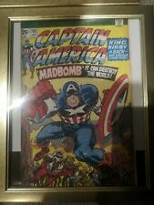 Marvel : Captain America Comic - Maxi Poster 16cm x 12cm ,framed with front glas