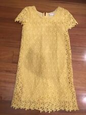 Tatget Dress Size 7 Girls Thick Lace Yellow Wedding Party Very Good Condition