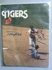 Detroit Tigers Scorebook Magazine 1989 vs. Indians - Kubek and Costas Autograph