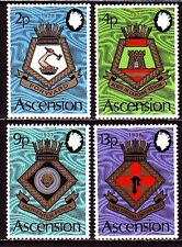 Ascension 1973 ** Mi.166/69 Schiffswappen Badges & Crests Royal Navy  [sq3395]