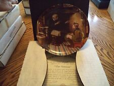 "Vintage Knowles Norman Rockwell ""The Veteran"" Collector Plate In Box"