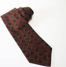 Men's Tie Tommy Hilfiger Vintage Lion Crest Checkered Paisley Silk Neck Tie