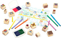 Deluxe Wooden Stamp and Coloring Set – Fairy Tale -Melissa & Doug