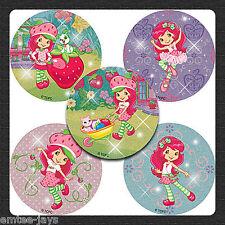 Strawberry Shortcake Stickers x 5 - Favours - Rewards, Gift - Birthday Glitter