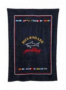 PAUL & SHARK Beach Towel Dark Blue Fantasy Logo Classic C0P1060 013