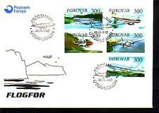Danimarca-Faeroer Michel numero 125 - 129 UFFICIALE FDC