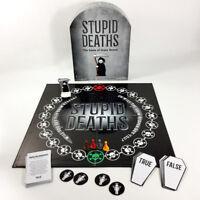 Stupid Deaths Frightfully Funny Board Game by Paul Lamond Dark True Or False