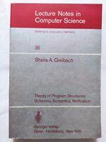 BOOK THEORY OF PROGRAM STRUCTURES: SCHEMES SEMANTICS VERIFICATION 36 0387074155