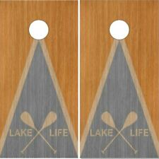 Lake Life Paddles Cornhole Wrap Bag Toss Skin Decal Sticker