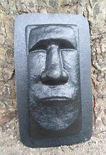 plaster concrete Tiki face plastic mold garden plaster concrete casting tropical