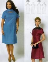 NEW Butterick 5827-2 Styles High Neck Princess Seams Easy Dress Pattern 2XL-6X