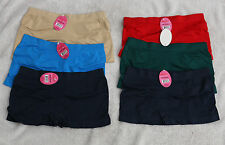LOT 6 Womens Seamless Microfiber Plain Push Up Flat Tummy BOXER underwear M L XL