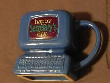 "Computer(PC) Coffee Mug) ""Happy Secretary's Day"" ) DESK COLLECTOR) Ceramic) BLUE"