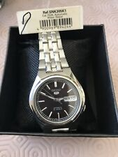 Brand New seiko 5 Snk305k1 Automatic Gents Black Face Watch