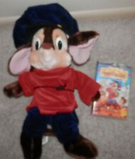 "FIEVEL plush Mouse 22"" An American Tail Stuffed Toy 7 vhs movie vintage toy"