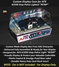 Custom Display Case AURORA AFX #1030 RCMP Police  (Finally a Box for this Car)