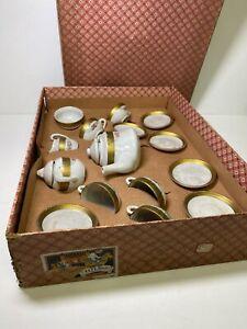 Antique Elfland Toyhouse Children's Toy Tea Set Germany Made w/ Original Box