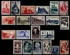 L'ANNÉE 1947 Complète, Oblitérés = Cote 25 €  / Lot Timbres France n°772 à 792