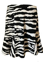 Michael Kors Women's Skirt Black & White Zebra Flare Size 8
