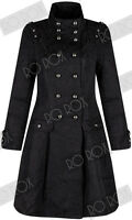 Womens Victorian Military Brocade Trench Coat Emo Punk Gothic Steampunk Jacket