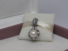 New w/Box Pandora Everlasting Grace Pearl and CZ's Dangle Charm 791385P $75