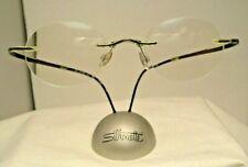 Silhouette  1960 SPX 19-135  Eggplant Drilled Rimless Eyeglass Frame