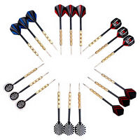 18 stk (6 sets) 3 stk/set Flight Steel Tip Dart Darts