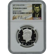 2011-S Proof Silver Kennedy NGC PF70 Ultra Cameo Half Dollar Coin