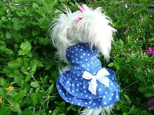 S cute Red/Blue dog dress