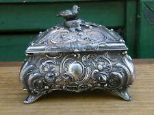Boite à Bijoux WMF G OX B Oiseau dans le Nid en Argent Plaqué Silver Silber