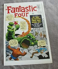 "Fantastic Four #1 1985 JACK KIRBY Thing Human Torch 22 x 34"" Marvel Poster VG+"
