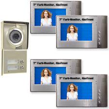 """Video Türsprechanlage 2 Familien Citofono 7"""" LCD-TFT Monitor Gegensprechanlage"""